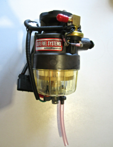 2 micron fuel filter unit with internal brushless pump and sensors